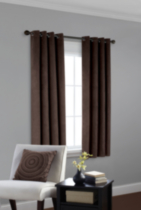 Faux Suede Room Darkening Window Panel Brown