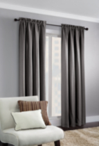 Vertical Stripe Window Panel Grey