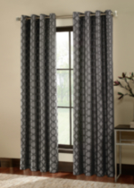 Jacquard Circle Window Panel Grey