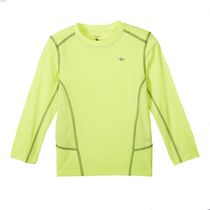 Athletic Works Boys' Long Sleeved Crewneck Top Yellow XL/TG