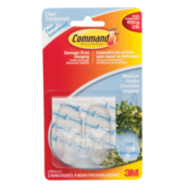 Command™ Medium Clear Hooks, 17091CLR-C
