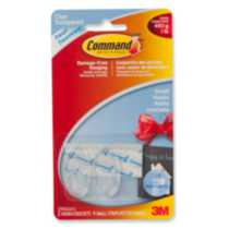Command™ Clear Small Hooks, 17092CLR-C