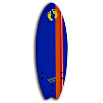 Planche de surf Soft Top de Hang Ten Flying Firsh, 5 pieds 6 po - bleue foncé