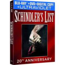 Schindler's List (20th Anniversary Limited Edition) (Blu-ray + DVD + Digital Copy + UltraViolet)