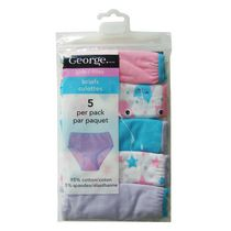 George Girls' Briefs, Pack of 5 10