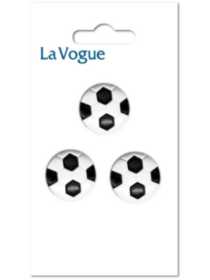 La Vogue 15mm shank button- soccer ball
