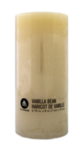 "3x6"" Scented Pillar Vanilla Bean"