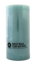 "3x6"" Scented Pillar Breezy Beach"