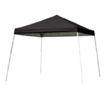 Sport Pop-Up Canopy, 12 x 12 , Slant Leg, Black Cover with Storage Bag