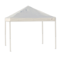 Pro 10 x 10 White Straight Leg Pop-Up Canopy
