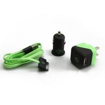 BlueDiamond ToGo Charging Kit for iPhone 4/4S - Green and Black