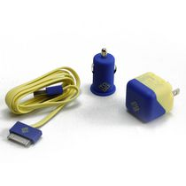 BlueDiamond ToGo Charging Kit for iPhone 4/4S - Yellow and Blue