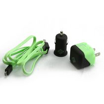 BlueDiamond ToGo Charging Kit for Android/Blackberry/Microsoft Phones - Green and Black