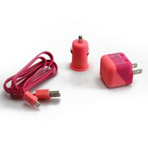 BlueDiamond ToGo Charging Kit for Android/Blackberry/Microsoft Phones - Pink and Coral