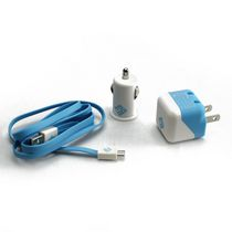 BlueDiamond ToGo Charging Kit for Android/Blackberry/Microsoft Phones - Blue and White
