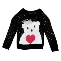 George Girls' Christmas Sweater Black L/G