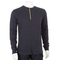 George Men's Henley Top Navy L/G