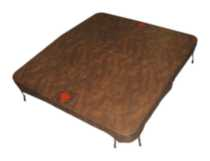 "Canadian Spa Co. 5""/3"" Brown Rectangle Spa Cover 80inx75in"