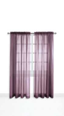 Mainstays Rod Pocket Window Panels Purple 120 in W x 84 in L
