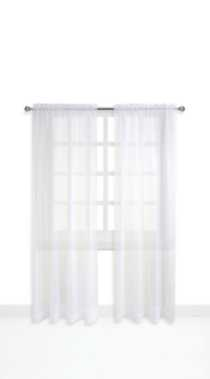 Mainstays Rod Pocket Window Panels White 120 in W x 63 in L