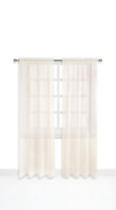 Mainstays Rod Pocket Window Panels Ivory 120 in W x 84 in L