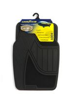 Premium Goodyear Rubber and Carpet Mat Set - Black Black