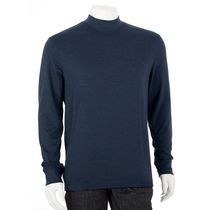 George Men's Mock-Neck Long Sleeved T-Shirt Navy XL/TG