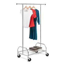 Honey-Can-Do Heavy-Duty Bottom Shelf Garment Rack