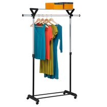Honey-Can-Do Grey/Black Top Shelf Garment Rack