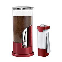 Zevro Red Coffee and Sugar Dispenser Set
