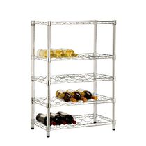 Honey-Can-Do Adjustable Chrome Wine Rack