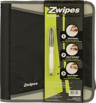 "Zwipes 1.5"" Zipper Binder"
