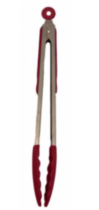 Red Silicone Tongs 12""