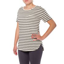 Danskin Now Women's Scoop Hem Tee Gray XS/TP