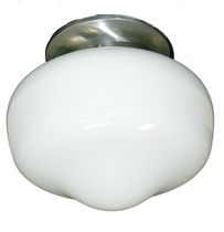 Elinor 1-Light Satin Chrome Flush Mount
