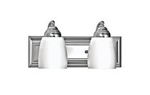 Agnesi 2-Light Satin Chrome Vanity