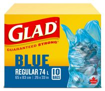 Glad® Easy-Tie® Regular Recycling Blue Bags- 10 Count