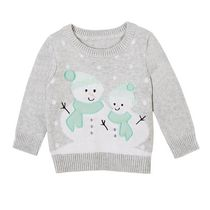 George Infant Girls' Christmas Sweater Grey 18-24 months