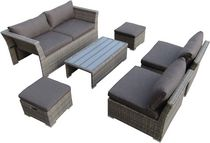 Henryka 6-Piece Conversation Patio Set - Beige
