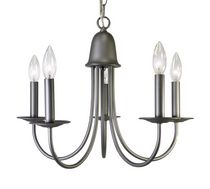 Birgitte 5-Light Raw Iron Chandelier