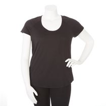 George Plus Women's Scoop Neck Tee Black 3X