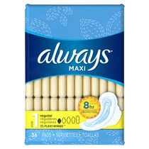 Always Maxi Regular Flexi-Wings 8-Hr Leakguard Protection Pads