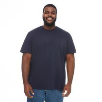 George Men's Plus Size Basic Cotton Tee Navy 3XL