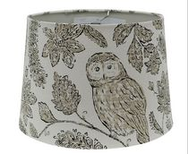 "Home Trends 13"" Owl Print Lamp Shade"