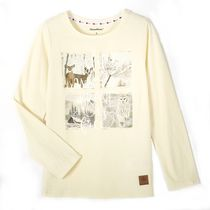 Canadiana Girls' Long Sleeved Graphic Tee 6X
