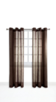 Mainstays Grommet Top Window Panels Chocolate