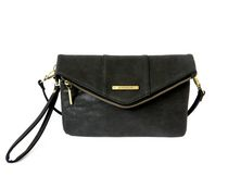 Jordache Envelope Clutch Hand Bag Black