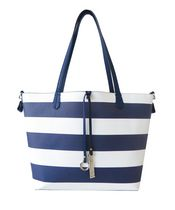 Nicci Women's Saffiano Textured Two-In-One Striped Tote