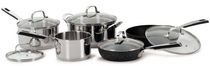 The Rock 10-Piece Stainless  Cookware Set