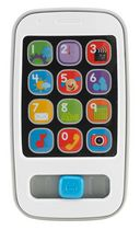 Fisher-Price Laugh & Learn Smart Phone, Grey - English Edition